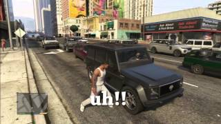 GTA5 Fun Time- Borrowing Cars and Messing With Pedestrians