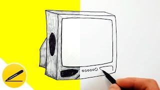 как Нарисовать Телевизор  Рисуем Бытовую Технику и Электронику