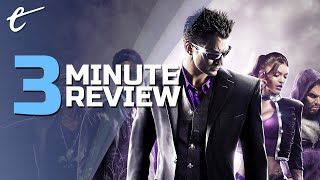 Saints Row: The Third Remastered | Review in 3 Minutes (Video Game Video Review)