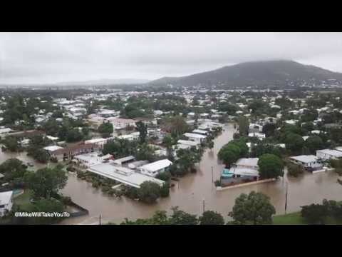 Townsville Floods via Drone Aerials - Queensland - 2019