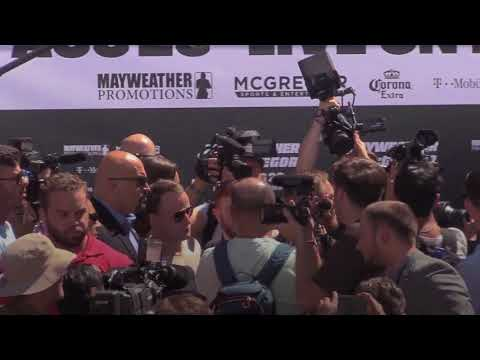Floyd Mayweather and Conor McGregor Grand Arrivals (Video: Press Association)