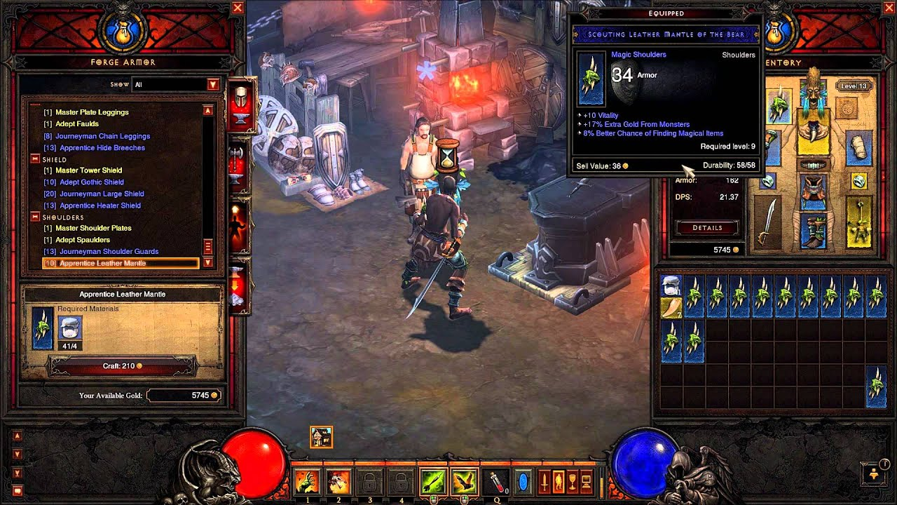 Diablo 3 turkce blacksmith ornek item crafting youtube for Diablo 3 crafting items