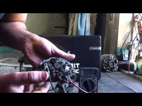 Как проверить диодный мост генератора ВАЗ в домашних