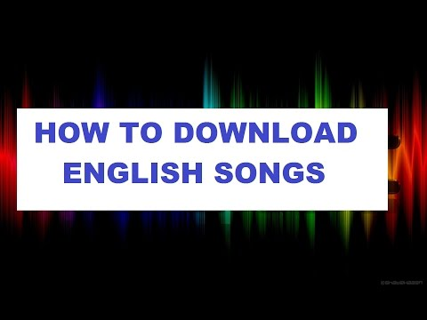 How to download English songs