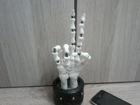 Как сделать подставку под любую вещь в виде руки скелета