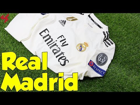 2c3d00092 Adidas Real Madrid Sergio Ramos 2018/19 UCL Home Jersey Unboxing + Review  from Subside Sports - YouTube