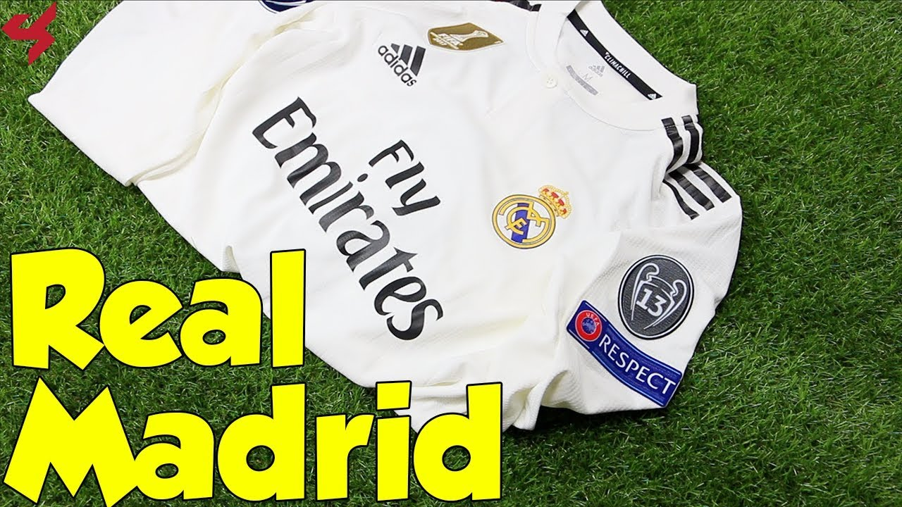 half off 7cec8 8e2ad Adidas Real Madrid Sergio Ramos 2018/19 UCL Home Jersey Unboxing + Review  from Subside Sports
