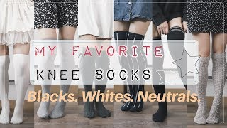 My Favorite Knee Socks! | Black, White, & Neutrals Collection