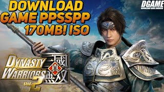 """""""Download Game PPSSPP/PSP"""" Dynasty Warrior vol 2 ISO 170MB!!!!"""