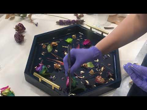 Encasing Live Flowers and Gold Leaf In Resin (Full Tutorial)
