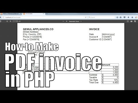 How to make printable PDF Invoices in PHP | PHP FPDF Tutorial #1