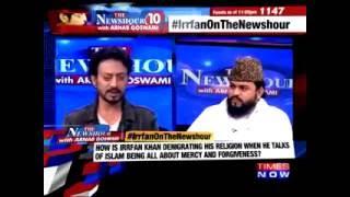 """Irfan Khan Real Indian muslim"" Shut Mouth Of Mualvi"