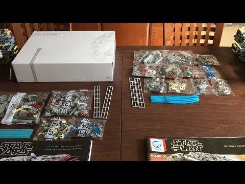 Lego #75192 vs Lepin 05132 UCS Millennium Falcon Part Two