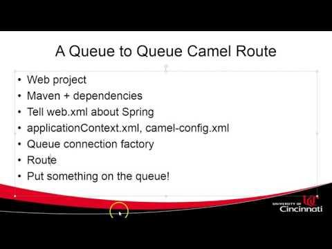 Create a simple queue to queue Apache Camel route