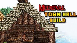 town hall minecraft medieval build