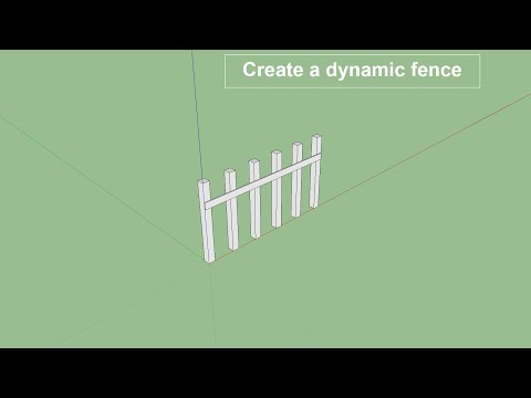 how-to-create-dynamic-fence-in-sketchup-pro