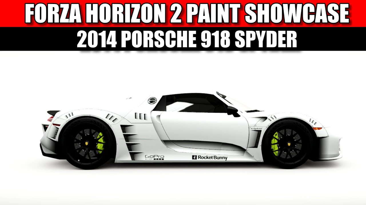 forza horizon 2 paint showcase porsche 918 spyder youtube. Black Bedroom Furniture Sets. Home Design Ideas