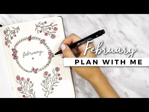 PLAN WITH ME   February 2017 Bullet Journal Setup
