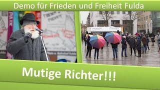 Demo Frieden und Freiheit Fulda/ 23.01.21/ Mutige Richter
