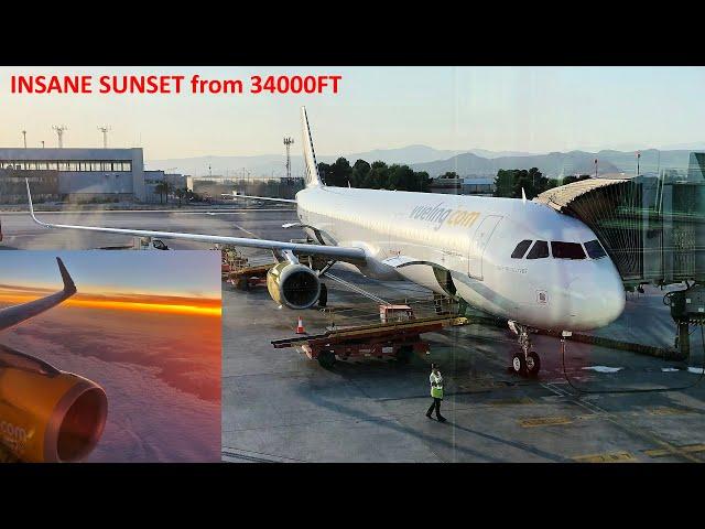 INSANE SUNSET   TripReport   Vueling A321   Malaga to Paris Orly