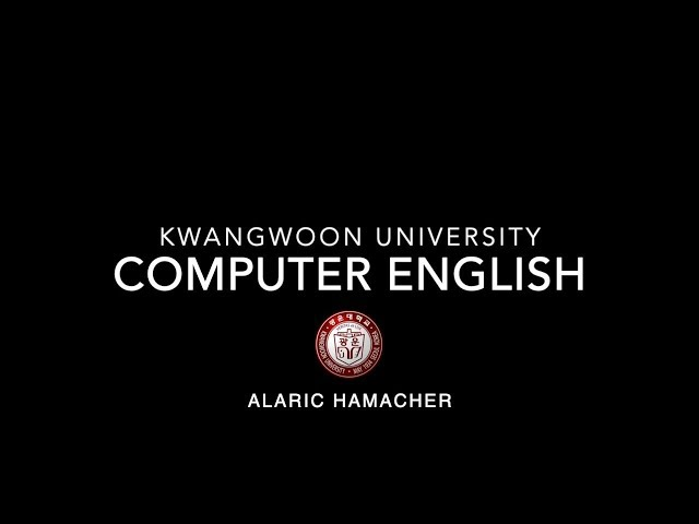 Computer English Class (컴퓨터 기술 영어)