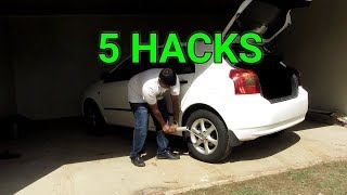 5 HACKS TO MAKE CHANGING YOUR TIRE A BREEZE THIS HOLIDAY SEASON!!!
