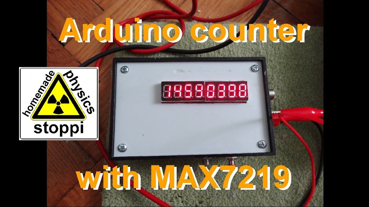 DIY Arduino counter with 8 digit display MAX7219 for geiger counter etc