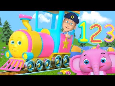 Numbers Train | Songs for Kids | Kindergarten Nursery Rhymes for Children by Little Treehouse