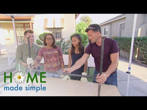 Turn Scraps into a Rustic Pipe and Wood Table | Home Made Simple | Oprah Winfrey Network