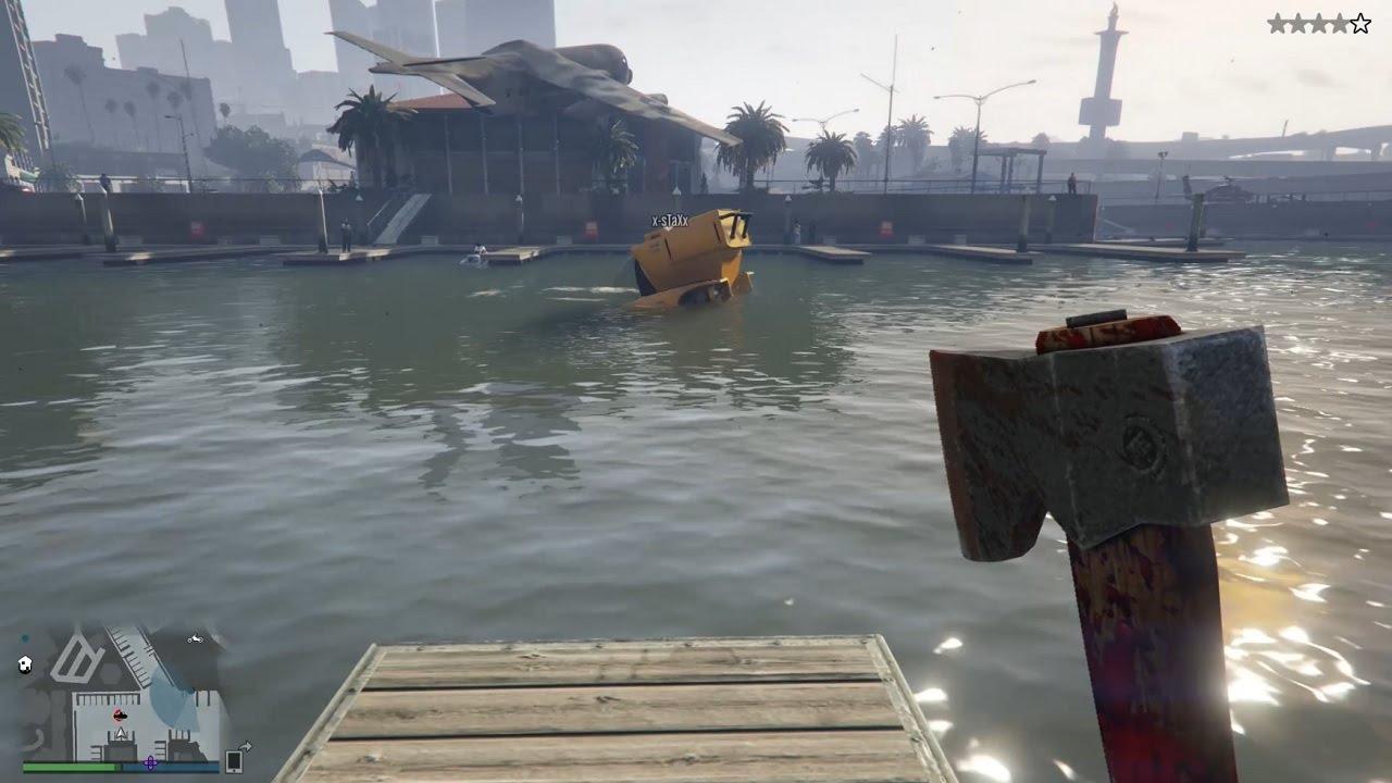 Gta V Online Ps4 Submarino Hacha Y Mucha Muerte Youtube
