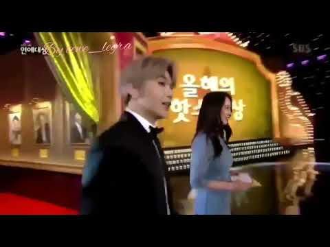 "WANNA ONE KANG DANIEL - SONG JI HYO RUNNING MAN ""SBS entertainment award 2017""(daniel & song ji hyo)"