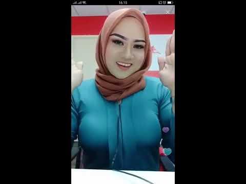 Bigo Live   Bigo Jilbab Toge Full part   Goyang pantat goyang susu
