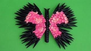 Модульное оригами бабочка для начинающих схема сборки (вариант 3)