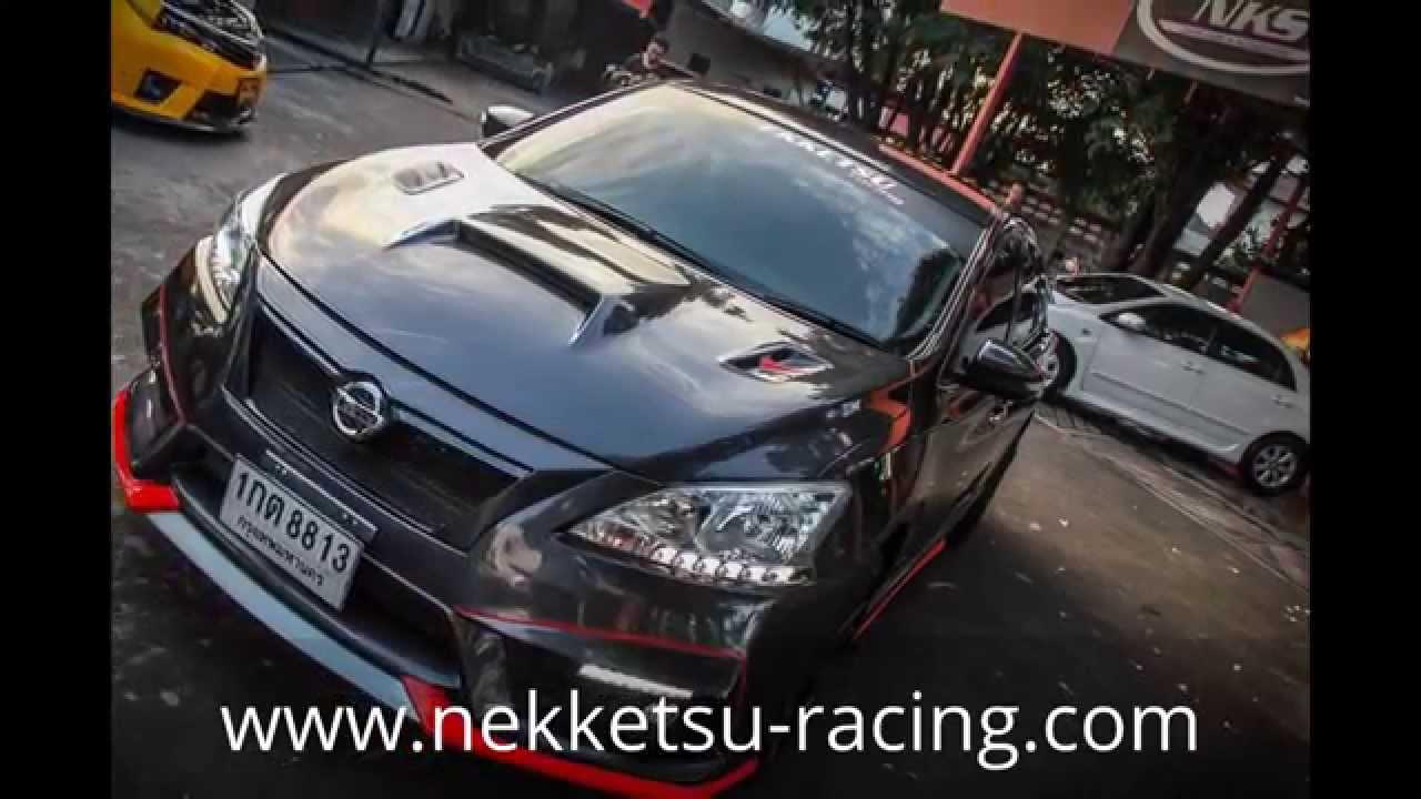 ชุดแต่ง Nissan Sylphy/Sentra B17 สีเทา ทรง Nismo Super ...