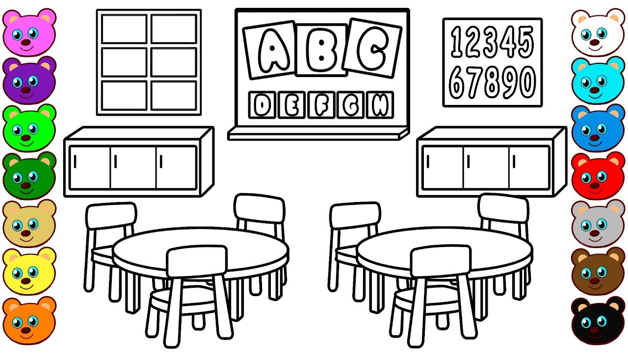 coloring pages classroom - photo#7