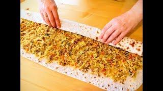 Лучшая начинка для лаваша / Вкусная закуска из обычного лаваша / Рецепты Другой Кухни