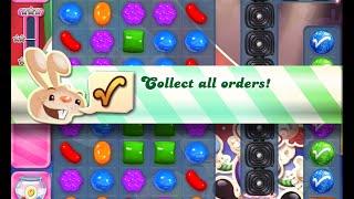 Candy Crush Saga Level 1385 walkthrough (no boosters)