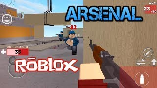 Playing ARSENAL -ROBLOX