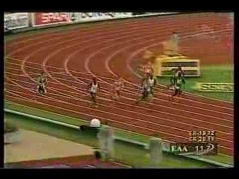 Atletismo :: Francis Obikwelu, medalha de prata no Europeu de Munique em 2002, nos 200m