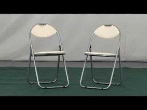 Padded Retro Folding Chair (Cream)