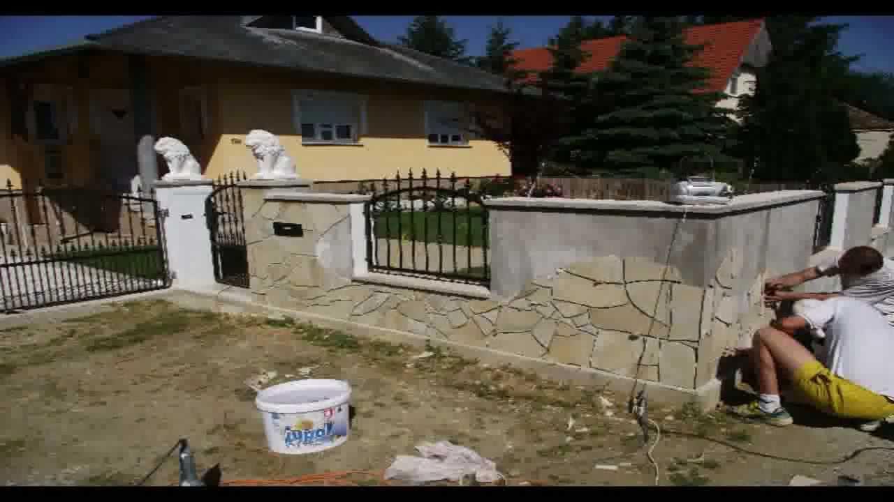 gartenmauer mit solnhofer dekorieren youtube