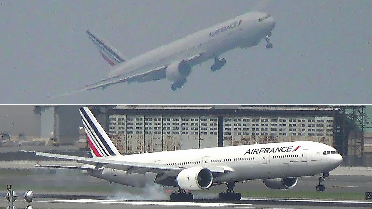 Air france boeing 777 300er vor 13l landing at john f for Interieur boeing 777 300er air france