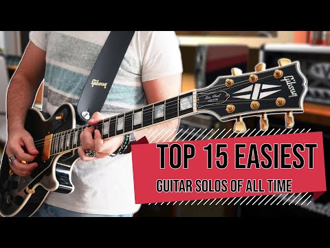 Top 15 EASIEST Guitar Solos OF ALL TIME