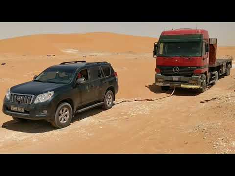 Prado 4.0 V6 Pulling Out A 14 Ton Truck Stuck In Sand.