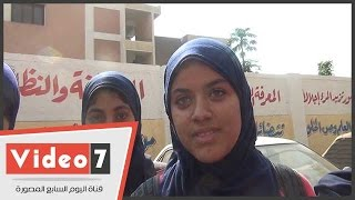 """بالفيديو..طالبات للشرطة النسائية:""""فرحانين بيكم وعايزنكم فى كل مكان علشان تحمونا"""""""