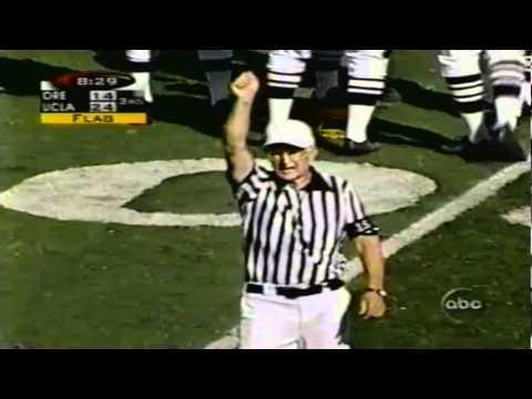 Oregon CB Tamani Joiner interception and long return vs. UCLA 10-17-98