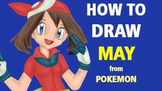 How to Draw May from Pokemon [Speed Painting]