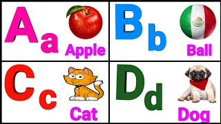 A for apple,alphabet for kids,phonics sounds with image,abcd song,learning alphanets,Hindi learning