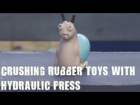 Rubber Toys vs 500 Ton Hydraulic Press