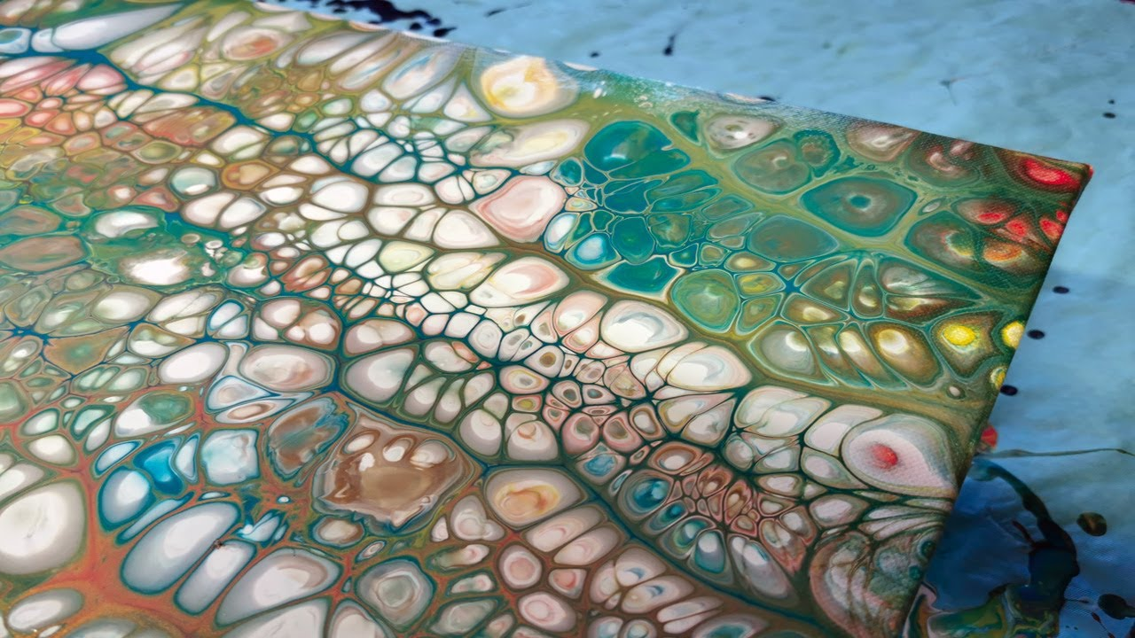 Fluid 20 Acryl pouring mit Muffen Test20   YouTube